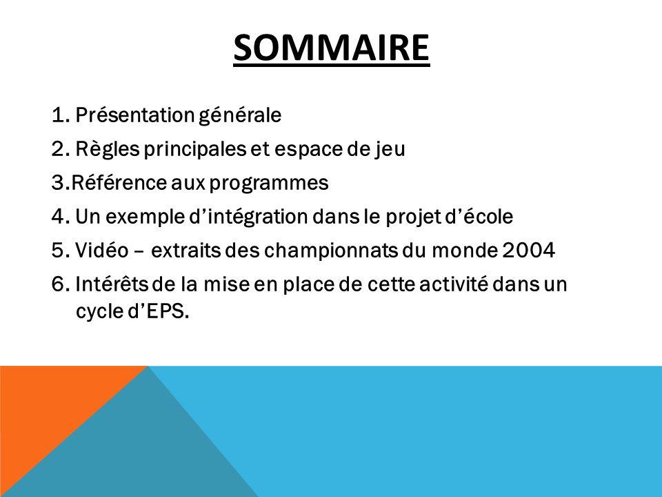 SOMMAIRE 1. Présentation générale 2. Règles principales et espace de jeu 3.Référence aux programmes 4. Un exemple dintégration dans le projet décole 5