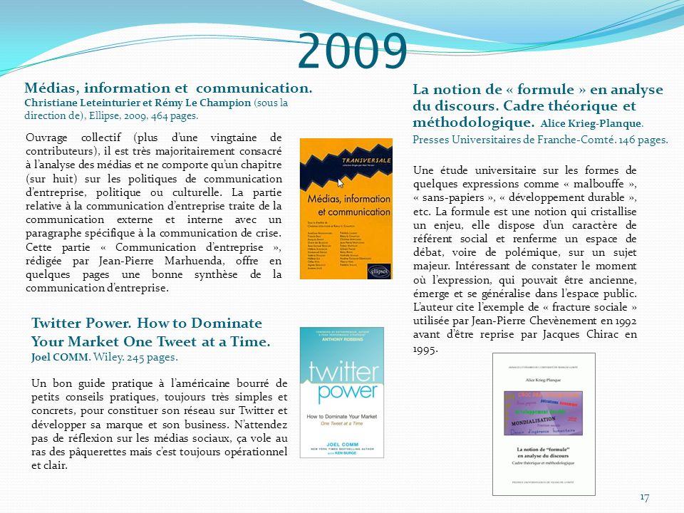 Médias, information et communication. Christiane Leteinturier et Rémy Le Champion (sous la direction de), Ellipse, 2009, 464 pages. La notion de « for
