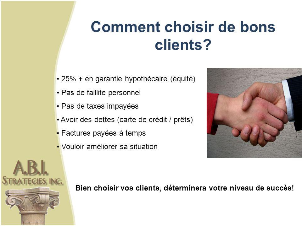 Comment choisir de bons clients.