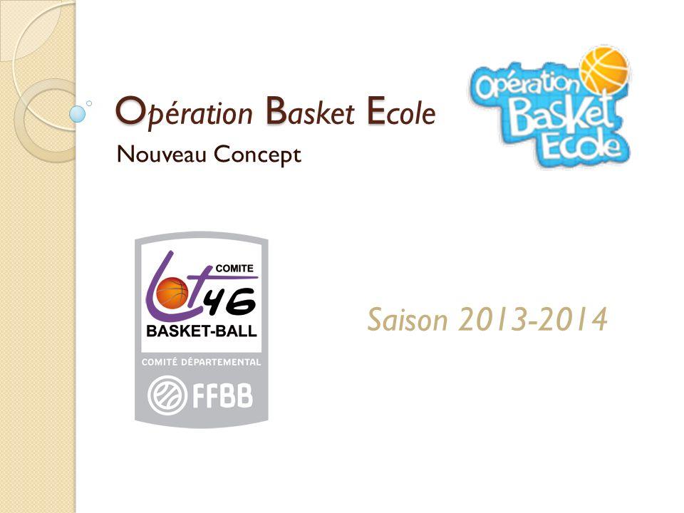 O B E O pération B asket E cole Nouveau Concept Saison 2013-2014