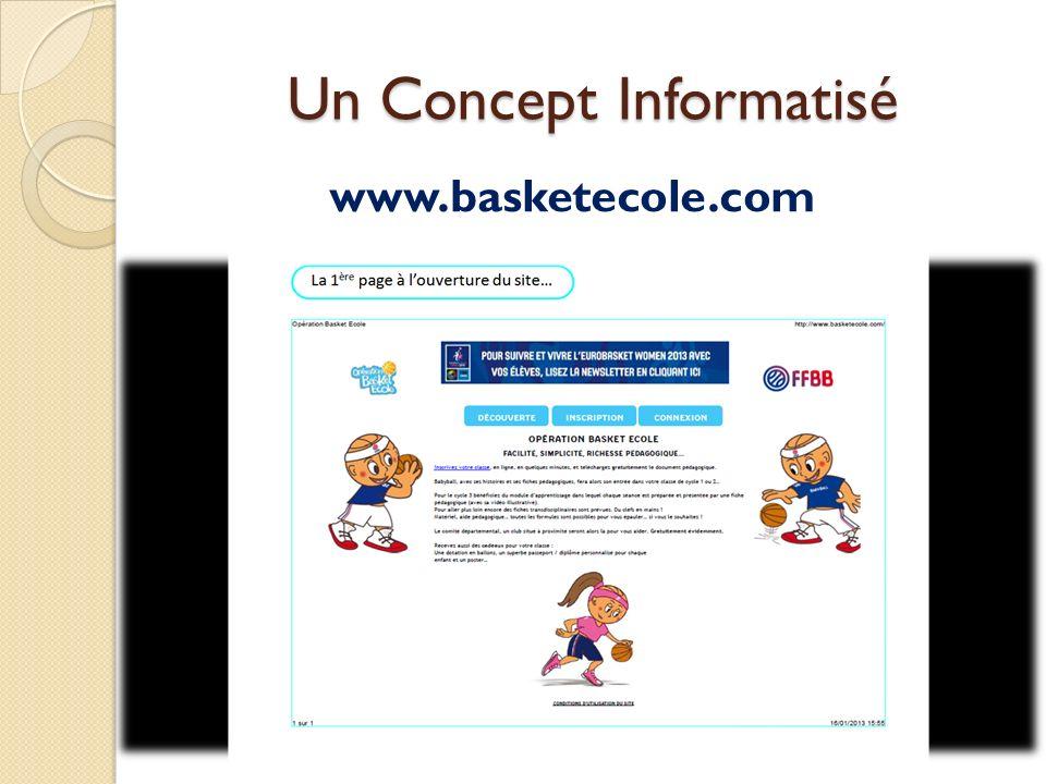 Un Concept Informatisé www.basketecole.com