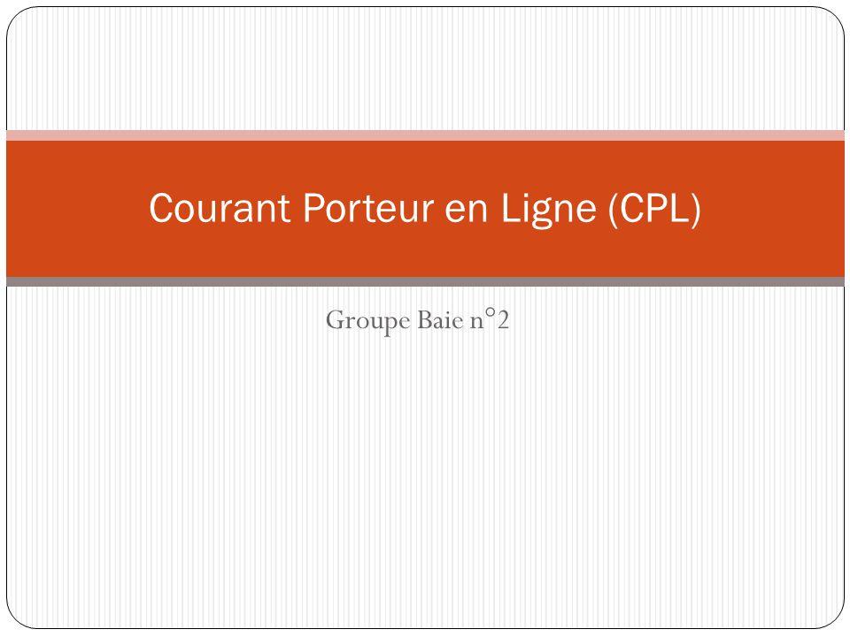 Groupe Baie n°2 Courant Porteur en Ligne (CPL)