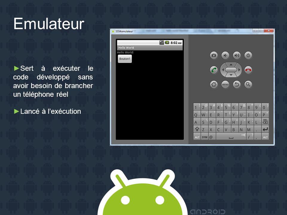 SVN Exemples de projets Android commités sur le dépôt Laccès au dépôt est restreint aux seuls membres du projet.