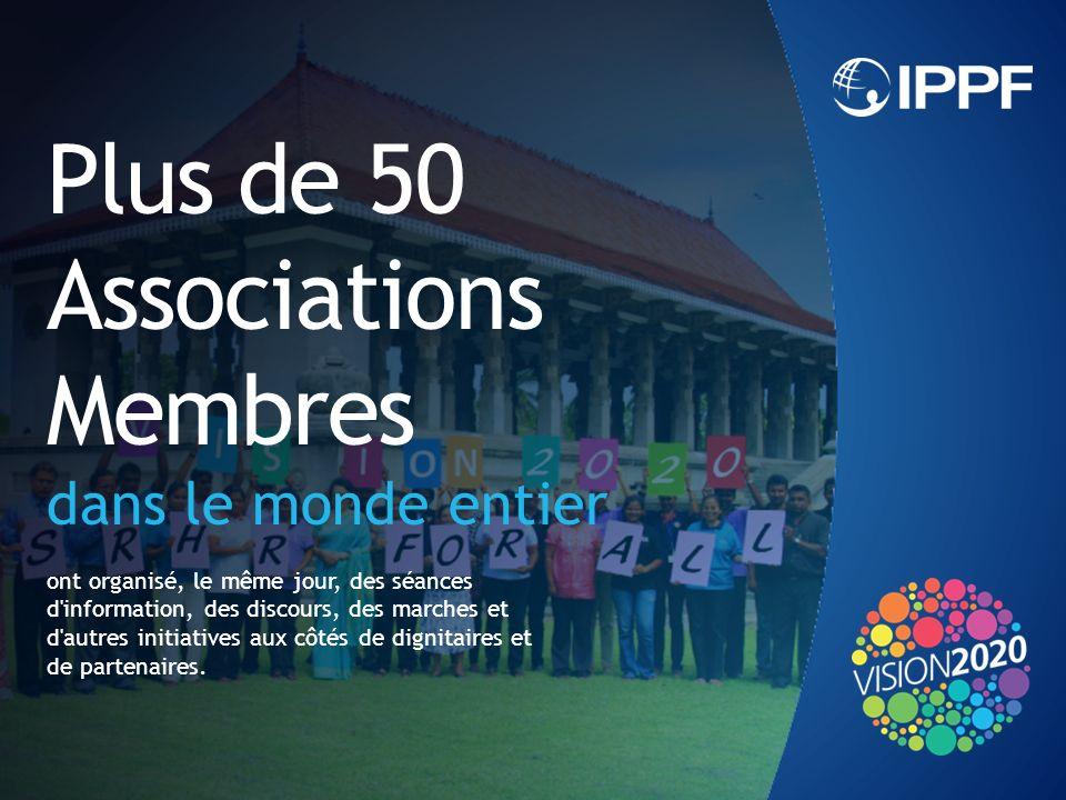 Plus de 50 Associations Membres dans le monde entier ont organisé, le même jour, des séances d information, des discours, des marches et d autres initiatives aux côtés de dignitaires et de partenaires.