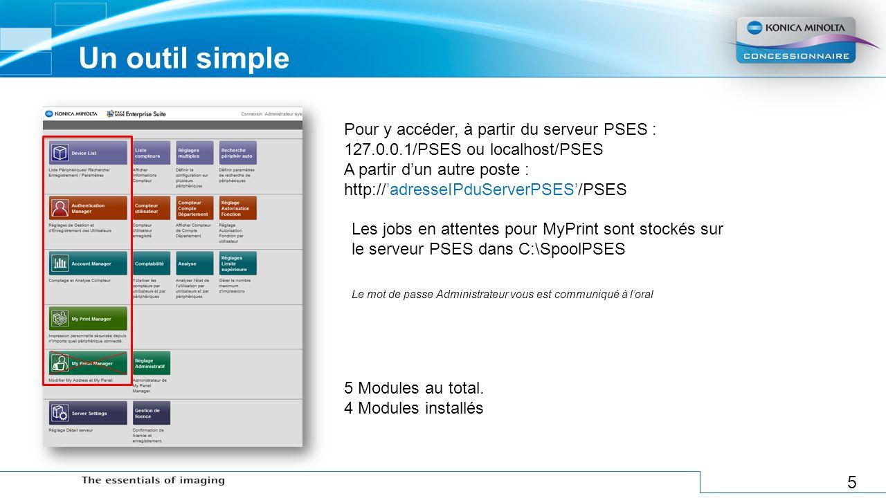 5 Un outil simple Pour y accéder, à partir du serveur PSES : 127.0.0.1/PSES ou localhost/PSES A partir dun autre poste : http://adresseIPduServerPSES/
