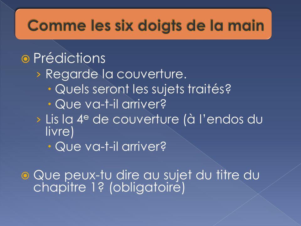 1.Écris 3 questions que tu voudrais poser à toute la classe pour vérifier leur compréhension.