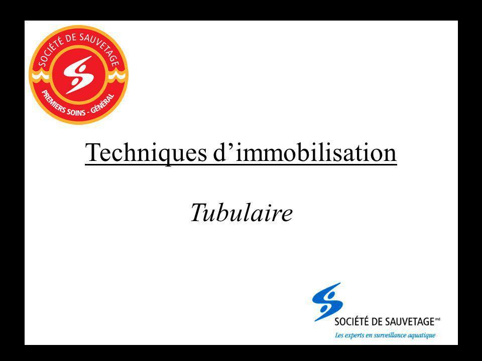 Techniques dimmobilisation Tubulaire