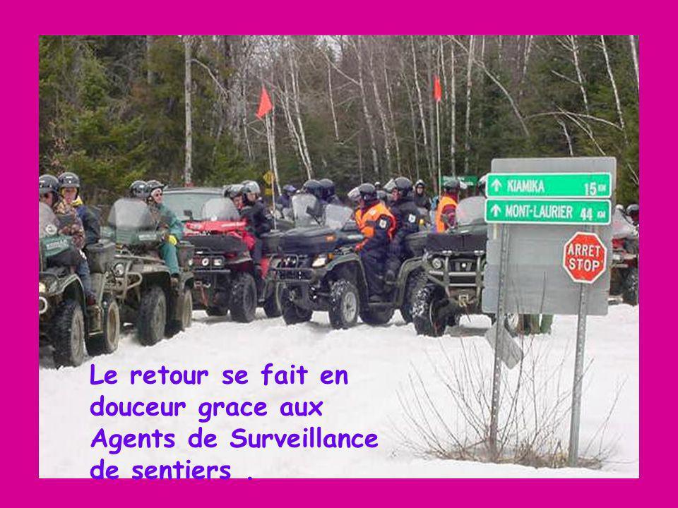 Le retour se fait en douceur grace aux Agents de Surveillance de sentiers.