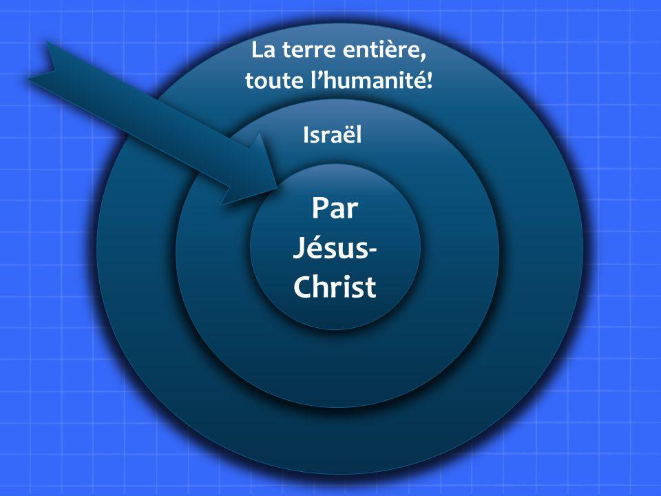 L Par Jésus- Christ La terre entière, toute lhumanité! Israël