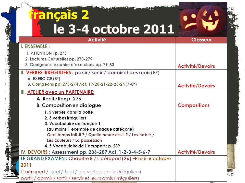 français 2 Le cahier dexercices pp. 81-83 p. 83 Act.