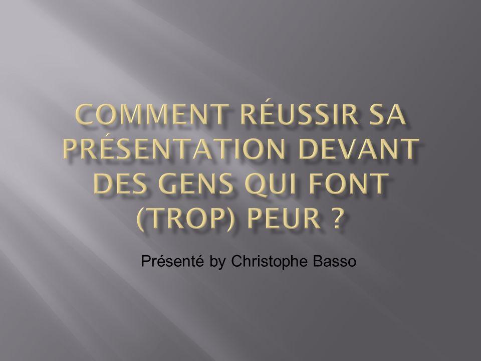 Quel est le but de l exposé .Je parle le français ou l anglais .