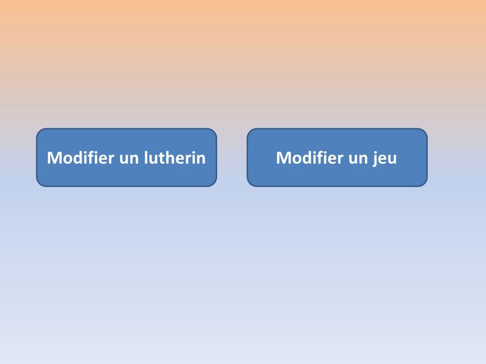 Menu édition du Jeu Pour finir, enregistrer le fichier !!! Menu Fichier Enregistrer