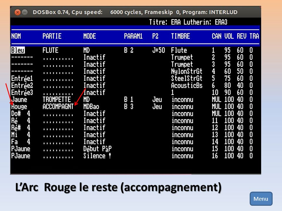 La première solution consiste tout simplement à charger le lutherin créé précédemment… Pour cela, il suffit dappuyer sur la touche F2, (quand vous êtes dans le jeu LIONEL.