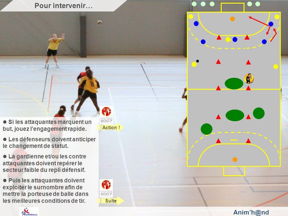 Animh@nd Si les attaquantes marquent un but, jouez lengagement rapide.