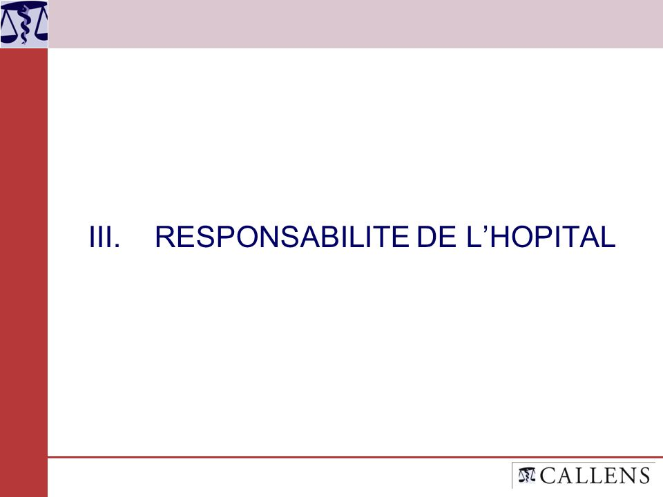 III.RESPONSABILITE DE LHOPITAL