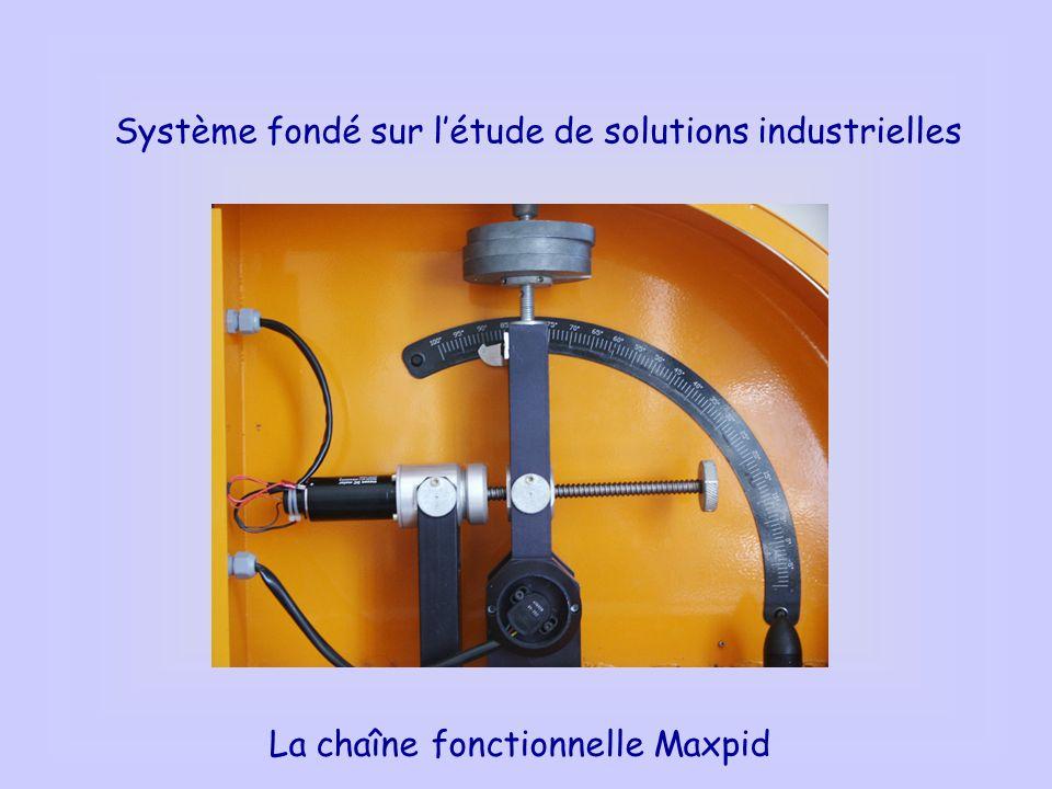 Système fondé sur létude de solutions industrielles La chaîne fonctionnelle Maxpid