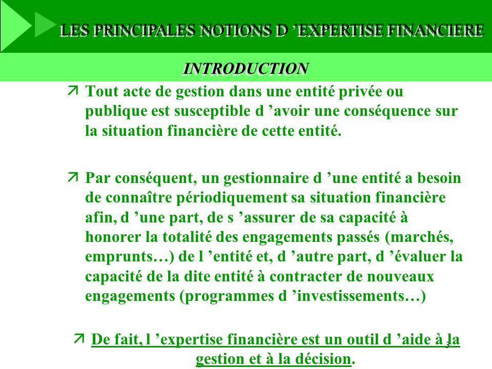 3 INTRODUCTION äTout acte de gestion dans une entité privée ou publique est susceptible d avoir une conséquence sur la situation financière de cette e