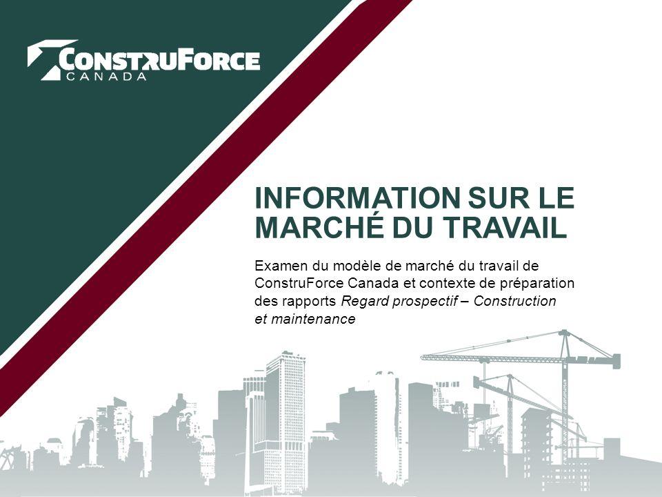 Introduction Objectif du présent examen : –Examiner les concepts de base et la structure du modèle de ConstruForce Canada.
