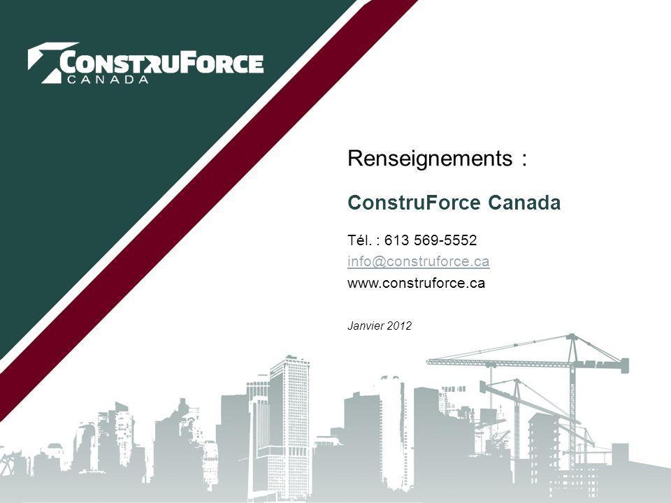 ConstruForce Canada Tél.