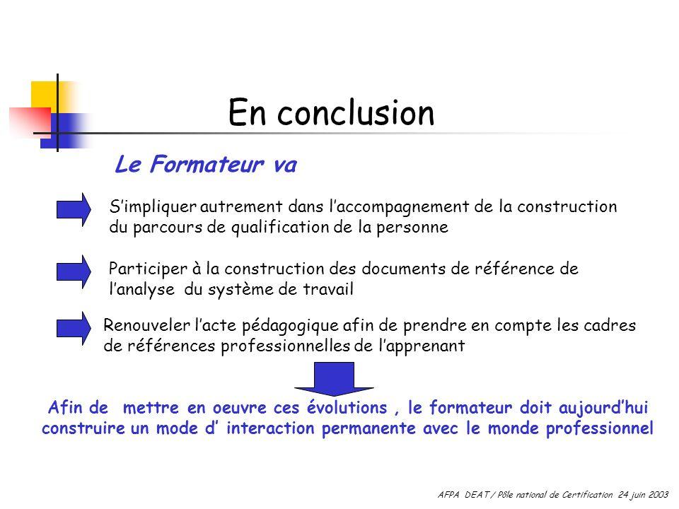 Simpliquer autrement dans laccompagnement de la construction du parcours de qualification de la personne Participer à la construction des documents de