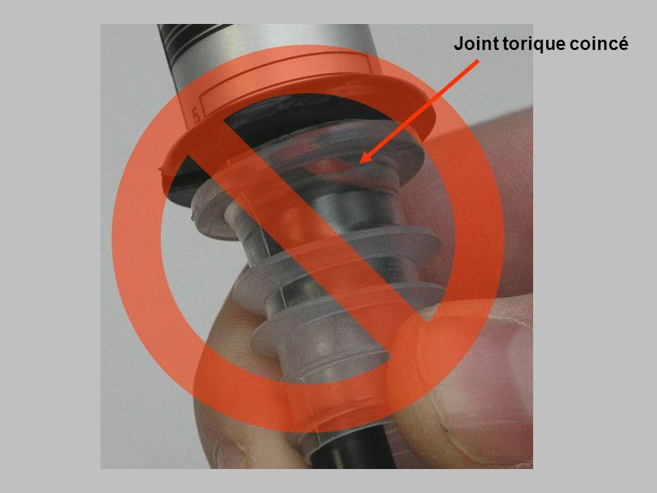 Joint torique coincé