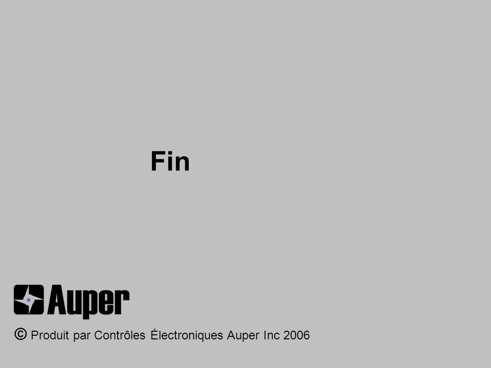 Fin © Produit par Contrôles Électroniques Auper Inc 2006