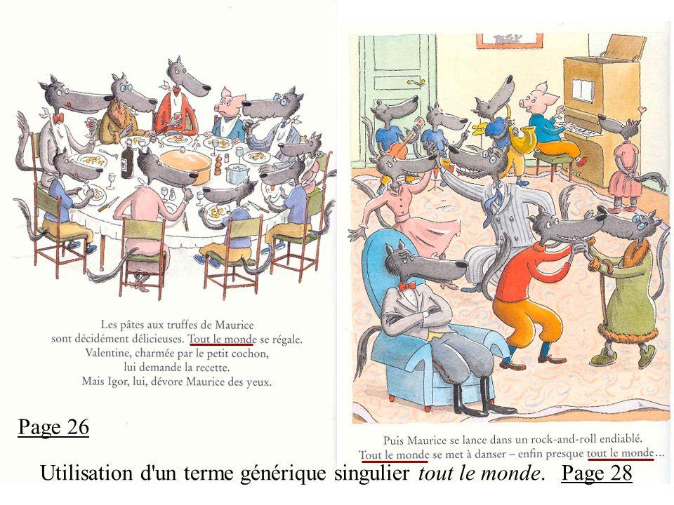 Page 26 Utilisation d un terme générique singulier tout le monde.Page 28