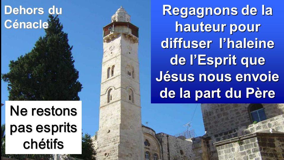 Ne restons pas esprits chétifs Regagnons de la hauteur pour diffuser lhaleine de lEsprit que Jésus nous envoie de la part du Père Dehors du Cénacle