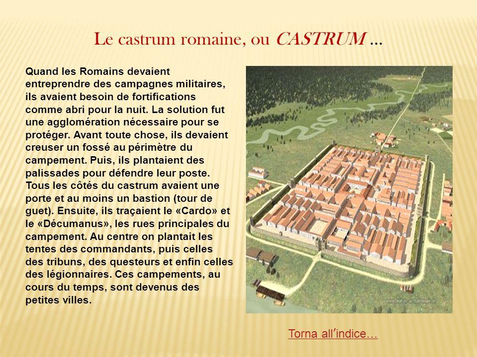 Le castrum romaine, ou CASTRUM … Quand les Romains devaient entreprendre des campagnes militaires, ils avaient besoin de fortifications comme abri pou