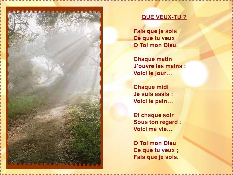 VOCATION Tu lances ton appel : aujourdhui, De ton cœur Eternel… Tu lances ton appel : aujourdhui, A mon cœur immortel… Tu veux que nous chantions : au