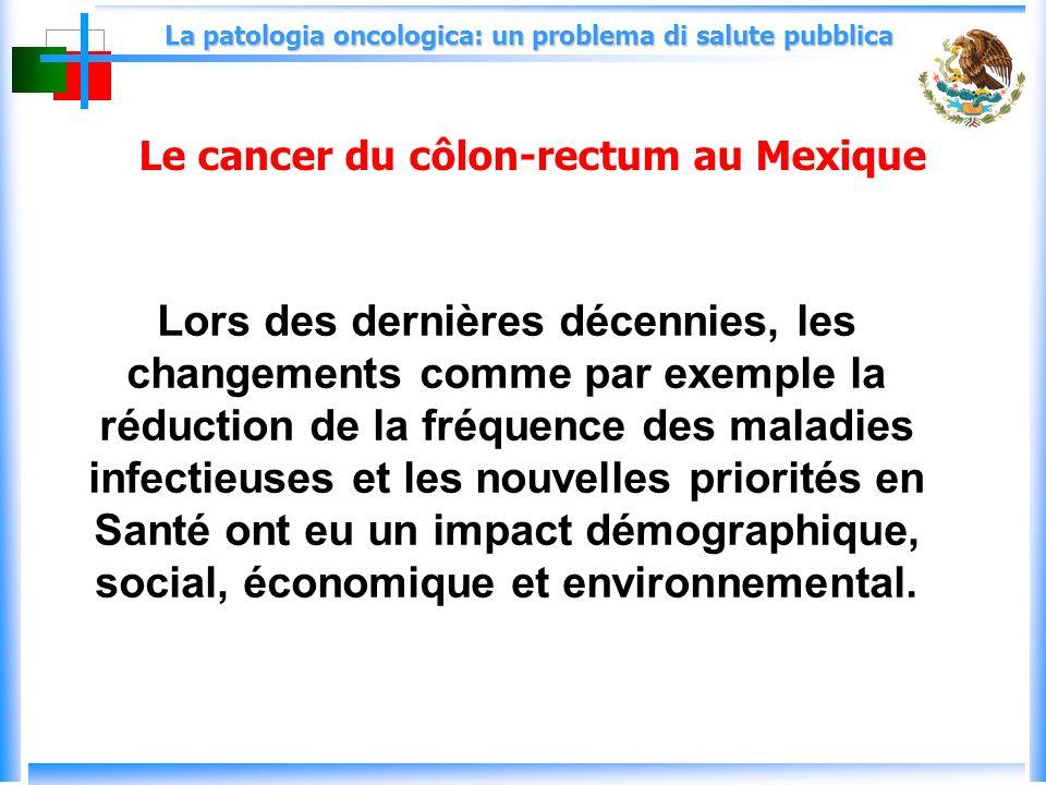 La patologia oncologica: un problema di salute pubblica Lors des dernières décennies, les changements comme par exemple la réduction de la fréquence des maladies infectieuses et les nouvelles priorités en Santé ont eu un impact démographique, social, économique et environnemental.