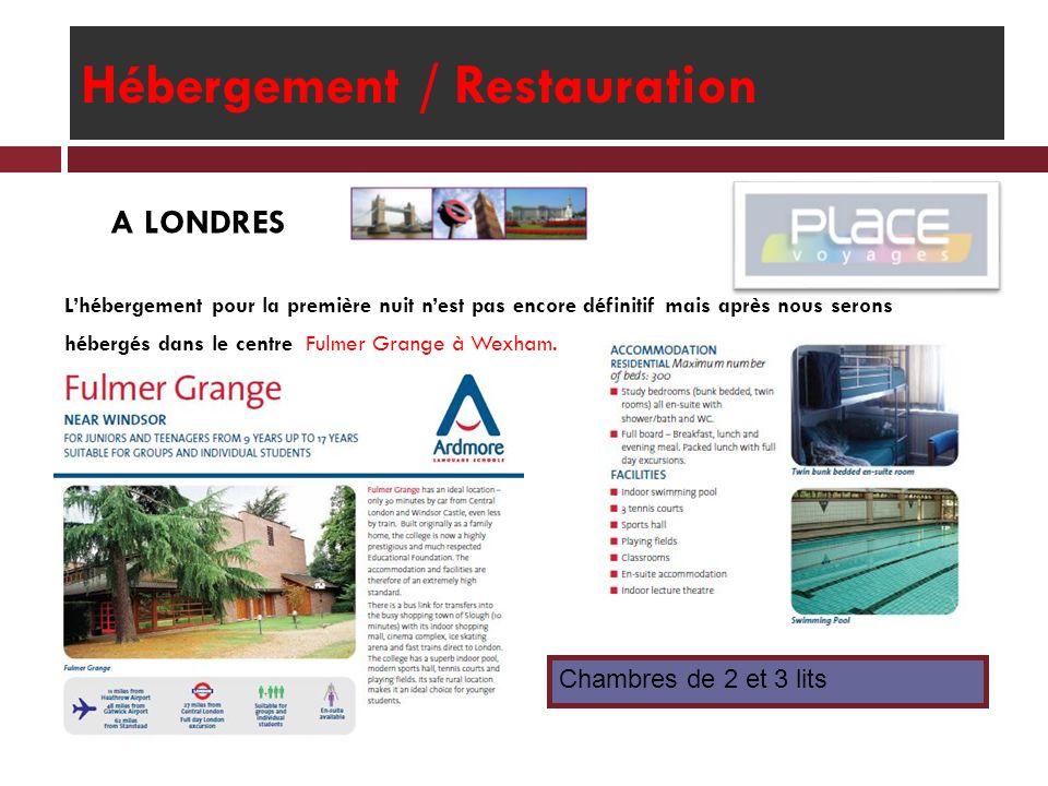 Hébergement / Restauration A PARIS Nous serons hébergés à la Résidence Internationale.