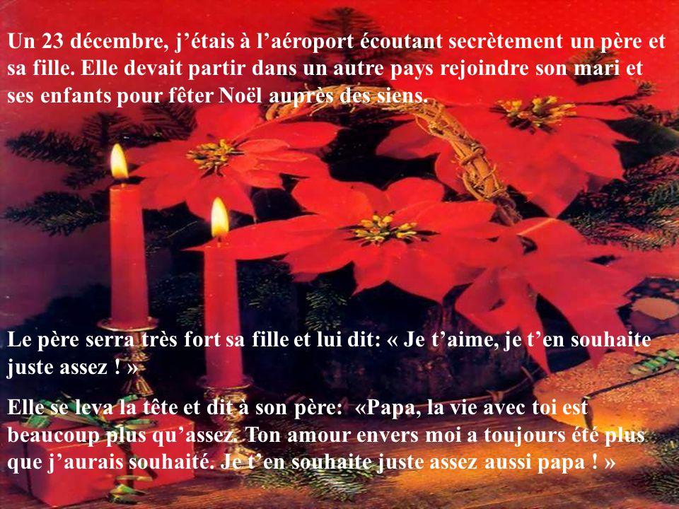 Un 23 décembre, jétais à laéroport écoutant secrètement un père et sa fille.