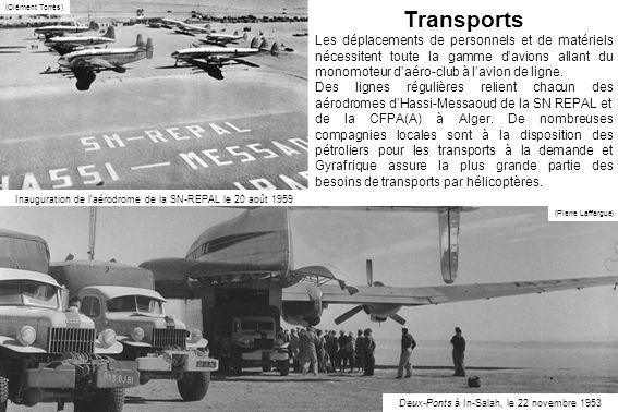 Transports Les déplacements de personnels et de matériels nécessitent toute la gamme davions allant du monomoteur daéro-club à lavion de ligne.