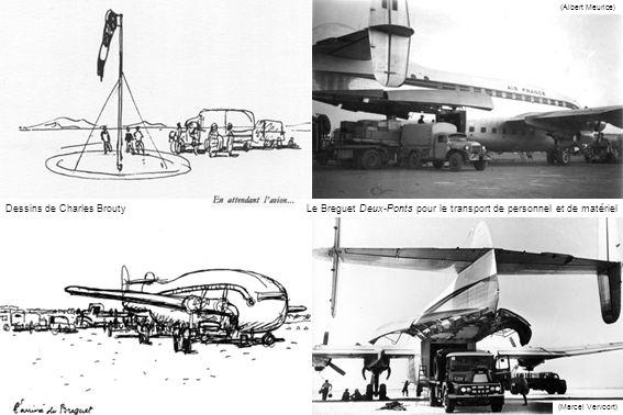 Dessins de Charles Brouty (Albert Meurice) (Marcel Vervoort) Le Breguet Deux-Ponts pour le transport de personnel et de matériel