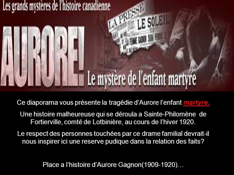 Les principaux protagonistes sont morts depuis plusieurs années: Telesphore gagnon est décédé paisiblement a Fortierville, en 1961, et sa troisième épouse, Madame Marie-Laure Habel(1897-1979), vient elle aussi de séteindre au Foyer de personnes agées du meme village.