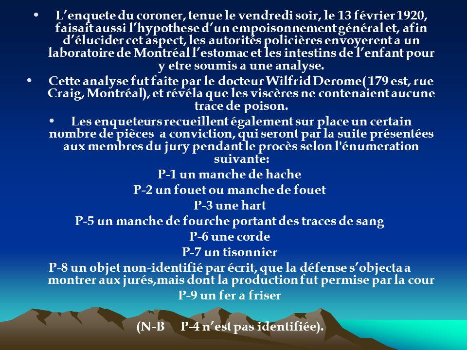 Le soleil du lundi 16 février rappelle les circonstances de la mort dAurore Gagnon et celle de l enquete du coroner Jolicoeur, ou les jurés ont >.