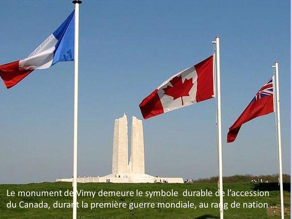 En 1922, la France a cédé à perpétuité au Canada les 117 hectares du champ de bataille original pour lérection dun monument à la mémoire des soldats c