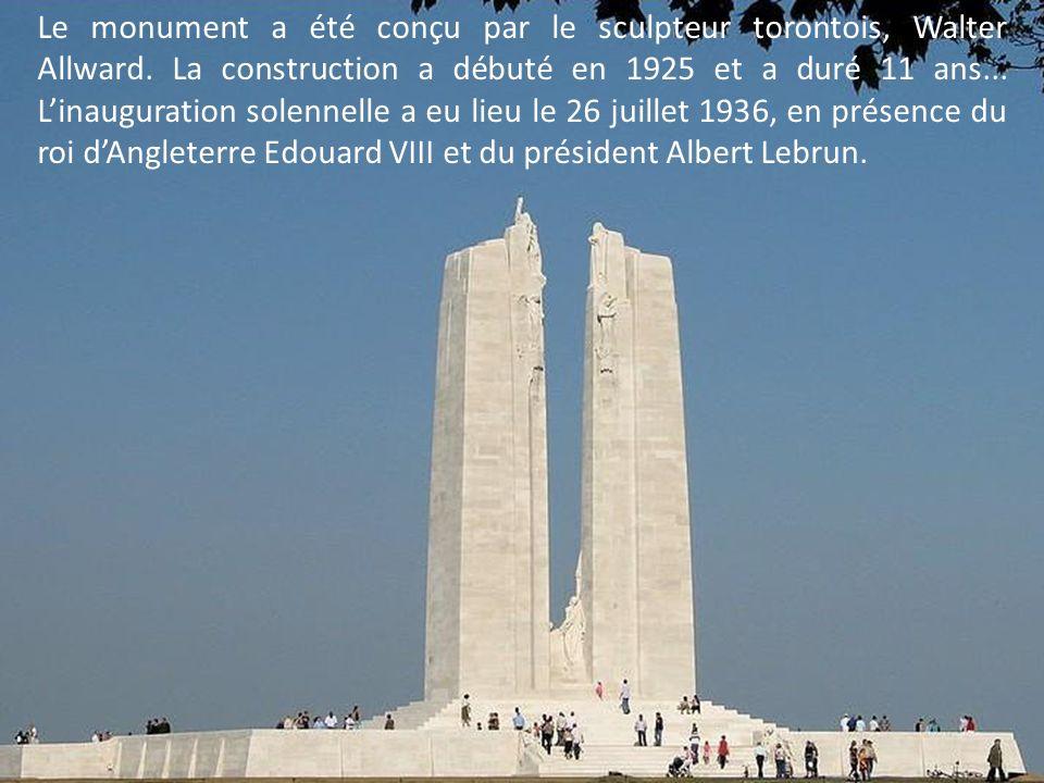 Le monument de Vimy demeure le symbole durable de laccession du Canada, durant la première guerre mondiale, au rang de nation …