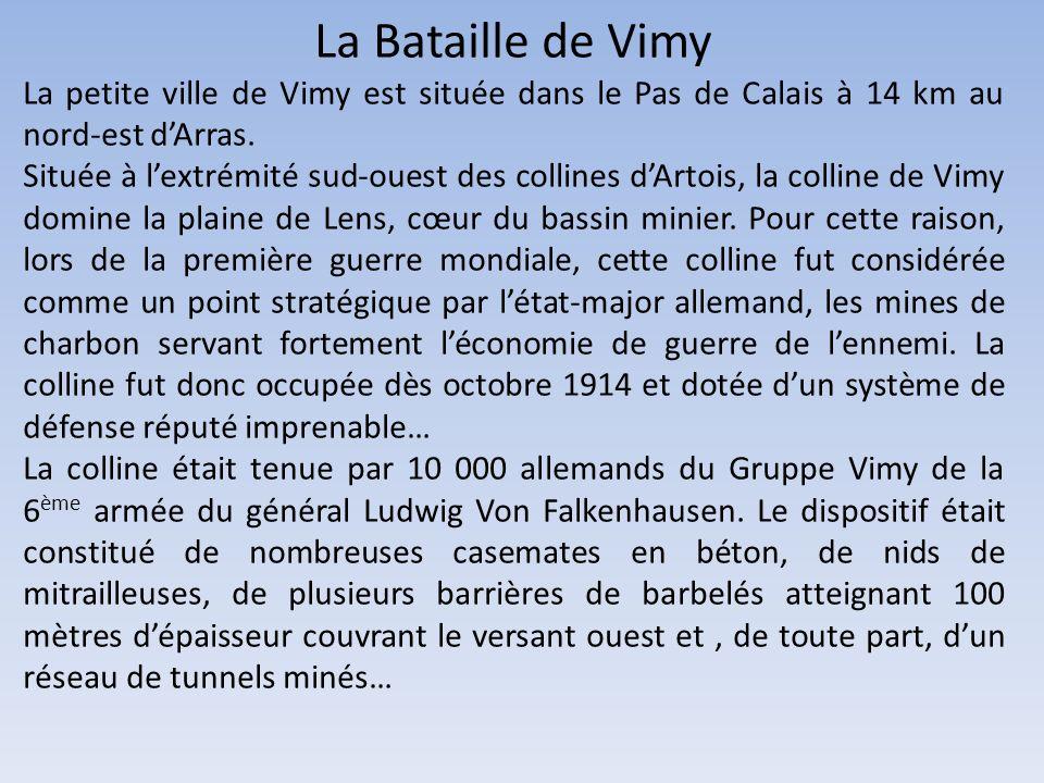 9 AVRIL-12 AVRIL 1917 LA BATAILLE DE VIMY