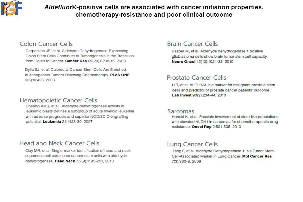Aldefluor®-positive cells are associated with cancer initiation properties, chemotherapy-resistance and poor clinical outcome a