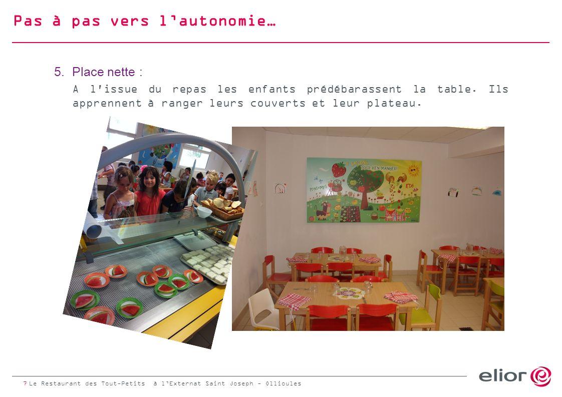 La Table des Curieux : un moment déchange et de convivialité Chaque jour et par petits groupes de 8, les enfants sont accueillis autour de la Table des Curieux afin de découvrir un aliment.
