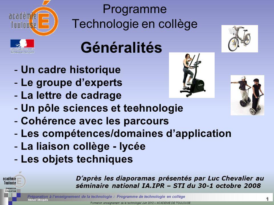 1 Séminaire « Définition de Produits » : méthodologie de définition dune pièce GREC INITIALES Formation enseignement de la technologie/ Juin 2012 – AC