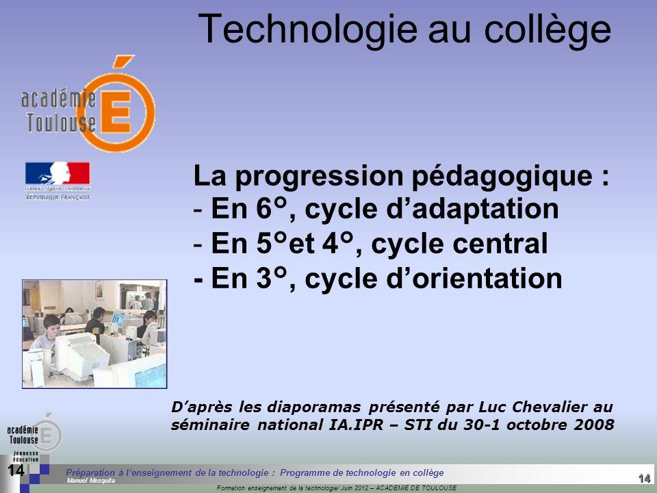 14 Séminaire « Définition de Produits » : méthodologie de définition dune pièce GREC INITIALES Formation enseignement de la technologie/ Juin 2012 – A