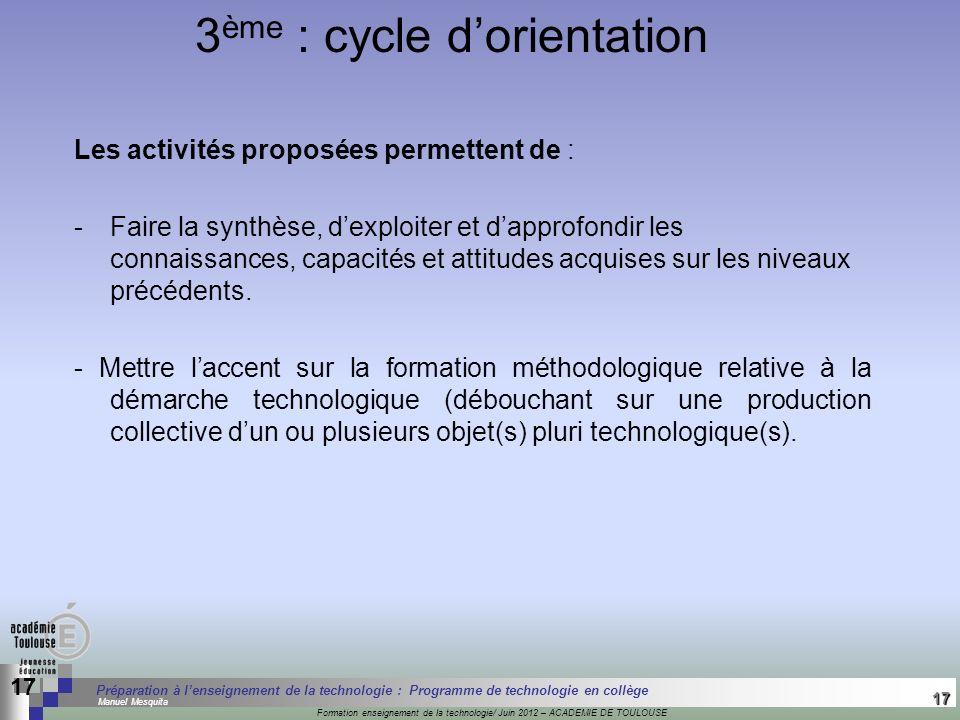 17 Séminaire « Définition de Produits » : méthodologie de définition dune pièce GREC INITIALES Formation enseignement de la technologie/ Juin 2012 – A