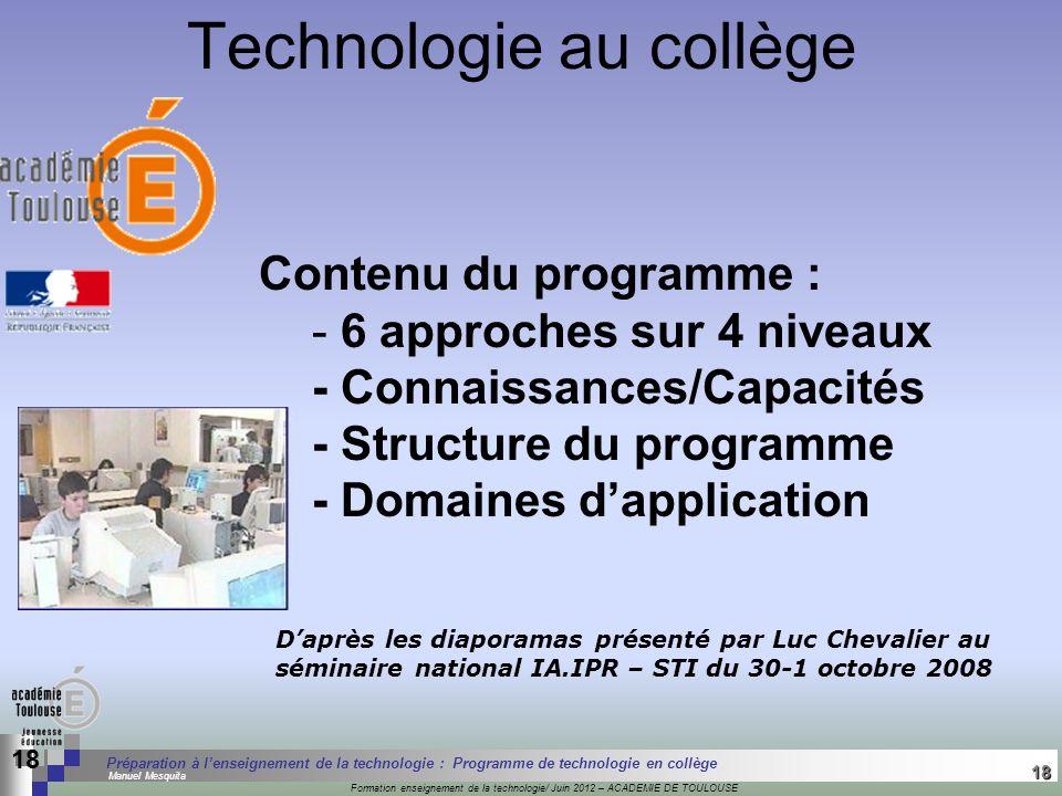 18 Séminaire « Définition de Produits » : méthodologie de définition dune pièce GREC INITIALES Formation enseignement de la technologie/ Juin 2012 – A