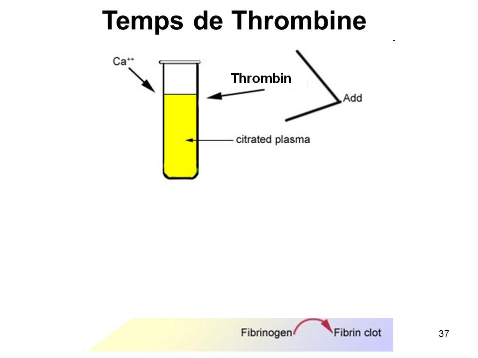 37 Temps de Thrombine