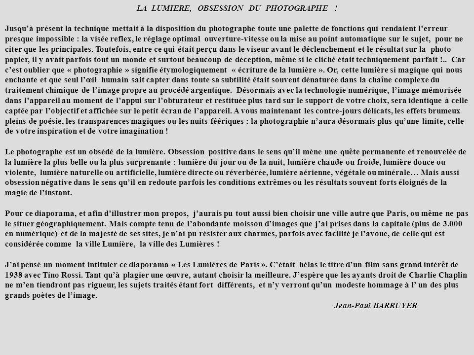 LES LUMIERES DE LA VILLE PARIS août 2003 et et septembre 2004 par Jean-Paul BARRUYER par Jean-Paul BARRUYER