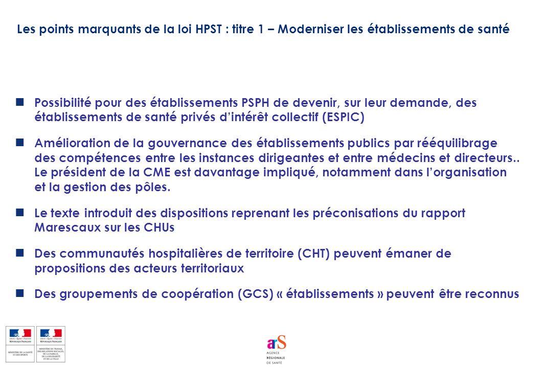 Possibilité pour des établissements PSPH de devenir, sur leur demande, des établissements de santé privés dintérêt collectif (ESPIC) Amélioration de l