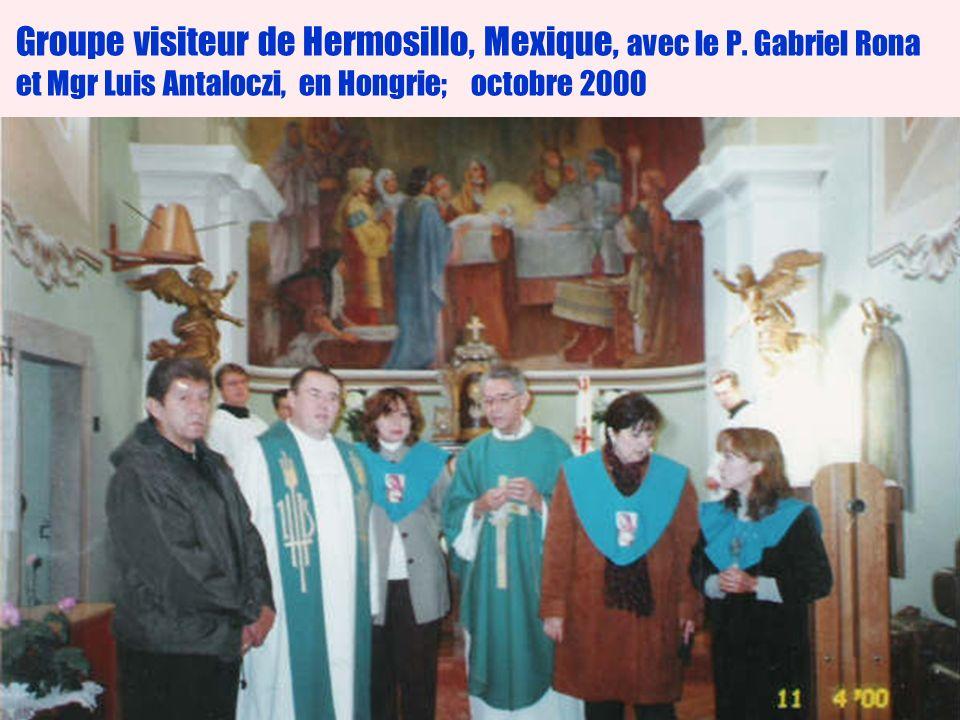 23 Groupe visiteur de Hermosillo, Mexique, avec le P.